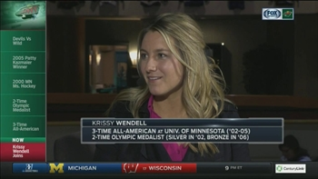 Krissy Wendell 'very excited' to be calling game on Hockey Day