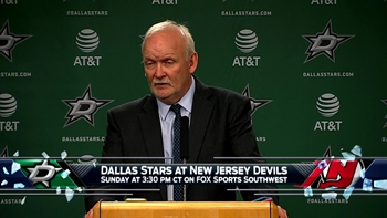Lindy Ruff talks Cracknell's hat trick, Stars win