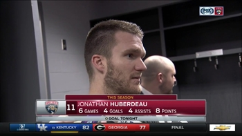 Jonathan Huberdeau: We showed what kind of team we are tonight