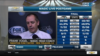 Magic coach Frank Vogel: 'We gotta keep believing in who we are and what we can be'
