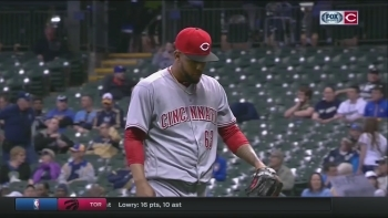 Reds fall to Brewers in high scoring affair