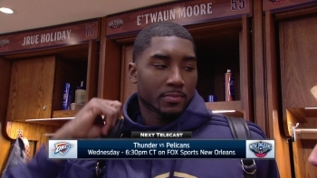 E'twaun Moore: 'It's a good win for us'