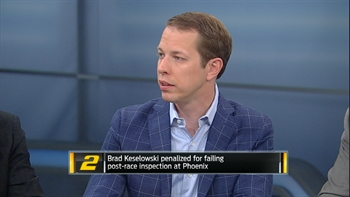 Brad Keselowski Reacts to Phoenix Penalties | NASCAR RACE HUB
