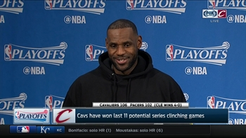 LeBron looks back on series with Pacers and comments on 21 straight first-round wins