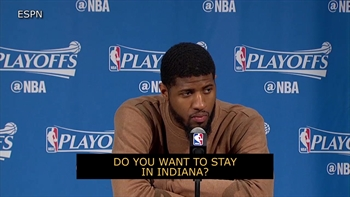 Paul George sick of losing to LeBron in playoffs