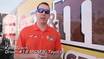Kyle Busch's M&M's Surprise
