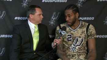 Kawhi Leonard on playing with lead in 97-90 win