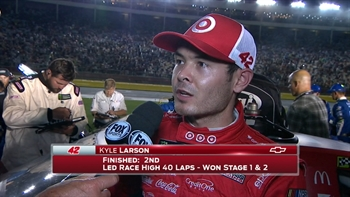 Kyle Larson Finishes Second Again | 2017 ALL-STAR RACE | FOX NASCAR