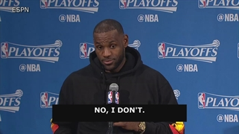 LeBron admits he doesn't remember last first-round loss