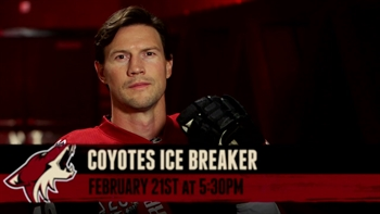 Coyotes Ice Breaker with Shane Doan: Tonight at 5:30