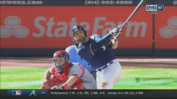 WATCH: Manny Pina becomes 12th to homer for Crew