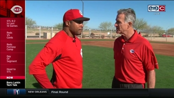 Tech Talk with Chris Welsh: Reds great Barry Larkin gives tips in the infield