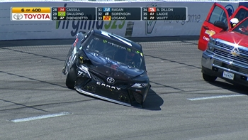 Erik Jones Wrecks Out Early | 2017 RICHMOND | FOX NASCAR
