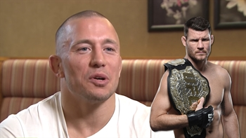 Georges Saint-Pierre says Michael Bisping is scared to fight him
