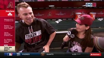 KidKaster Taylor finds Brandon Drury's funny bone