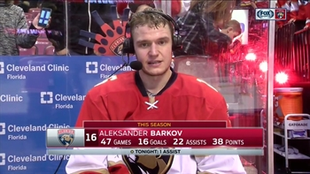 Aleksander Barkov says he expected the Hurricanes to battle back