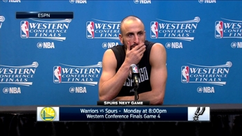 Manu Ginobili on competitiveness in Game 3 loss to Warriors