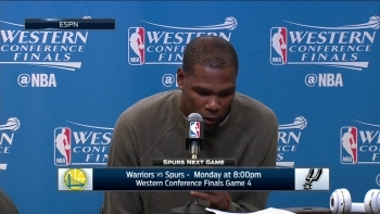 Kevin Durant talks Warriors Game 3 win over Spurs