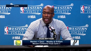 Mike Brown talks Golden State's Game 3 win