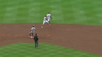 WATCH: Wong flashes the leather twice at second base