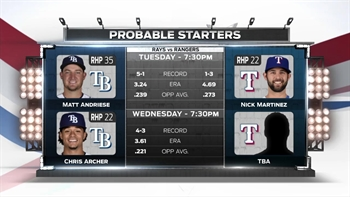Resilient Rays look for a 3rd straight win Tuesday in Texas