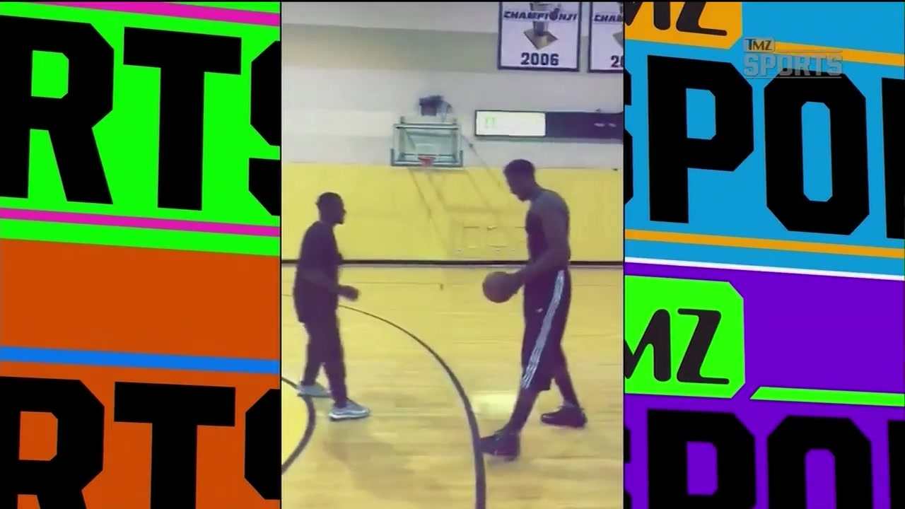 Antonio Brown played 1-on-1 with Hassan Whiteside and looked good | TMZ SPORTS