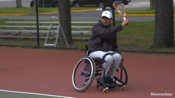 HS tennis player in wheelchair believed to make New York history
