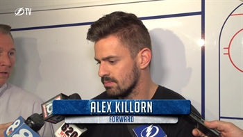Alex Killorn says he's proud of the way the Lightning fought back this season