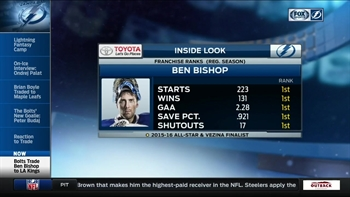 Lightning General Manager Steve Yzerman explains Ben Bishop trade