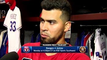 Robinson Chirinos talks Perez's performance in loss
