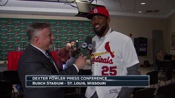 Dexter Fowler on his new lid: 'This hat looks good'