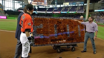 WATCH: Marlins unveil Ichiro Suzuki 3,000 hit collage