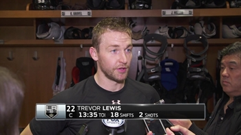 Trevor Lewis postgame: 'They were pressuring us hard'