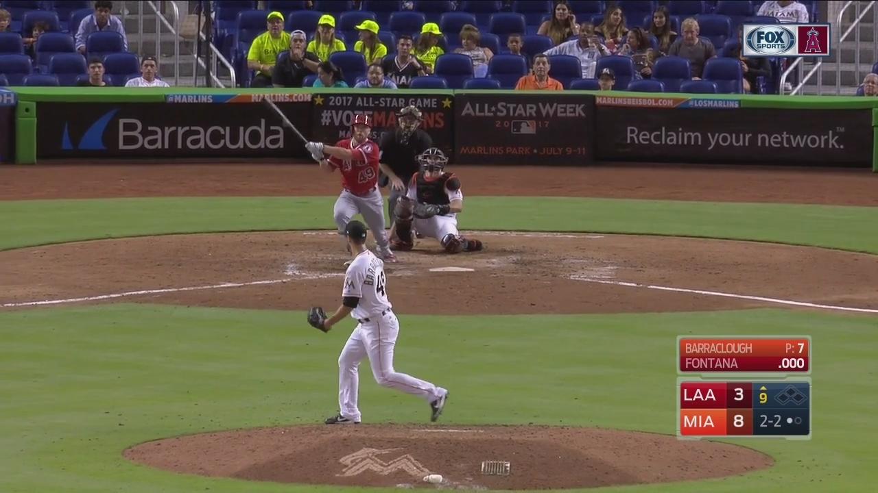 HIGHLIGHTS: Nolan Fontana's first major league hit is HR for Angels
