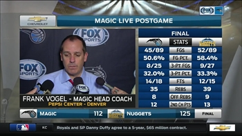 Frank Vogel: We didn't have great energy tonight