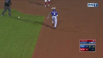 WATCH: Delino DeShields steals 2nd base in 6th inning