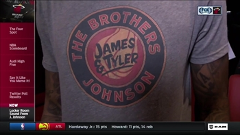 James Johnson rocks fresh T-shirt after victory