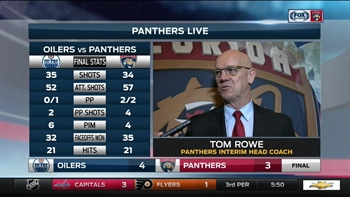 Tom Rowe: 'One game is not gonna get us off track'