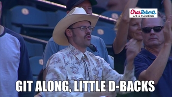 Hot Air: The Rally Cowboy rides the D-backs range