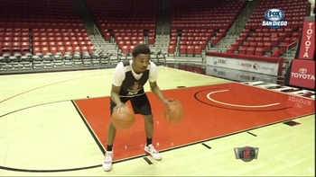 Dribbling drills with Aztecs guard Jeremy Hemsley