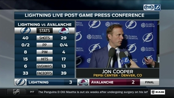 Jon Cooper on OT win: We needed one of these