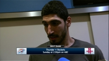 Enes Kanter: Guys don't want to mess with our physicality