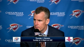 Billy Donovan: 'It was good to see our guys respond.'