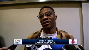 Westbrook on perfect triple-double: 'It just happened that way'
