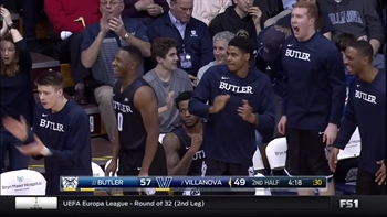 Butler Bulldogs with 10 3-pointers against Villanova Wildcats