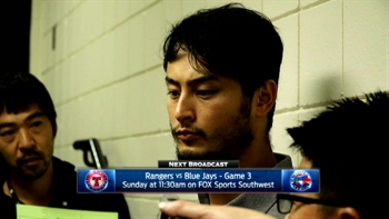 Yu Darvish talks 3-1 loss to Blue Jays