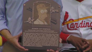 WATCH: Homer Simpson gets inducted into the Baseball Hall of Fame