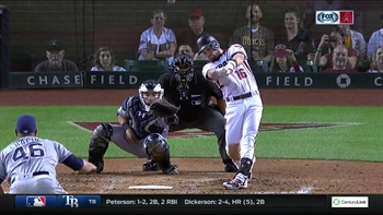 Owings takes Goldschmidt's place in lineup, belts first career grand slam