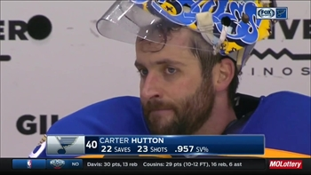 Hutton feeling confident during spot start for Blues