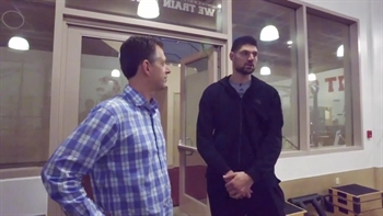 Take a trip back to where Nikola Vucevic learned to lift weights